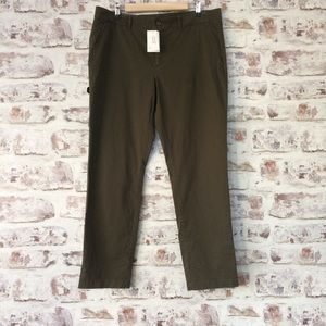 Banana Republic Army Green Slim Ankle Pants